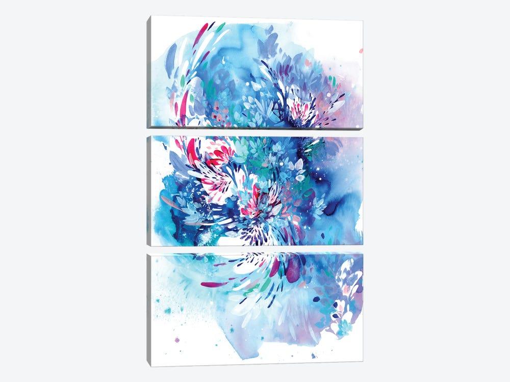 Floral Wave by CreativeIngrid 3-piece Canvas Print