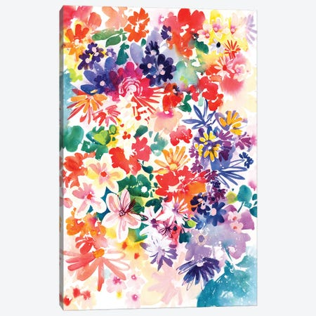 Garden In Bloom Canvas Print #CIG23} by CreativeIngrid Canvas Art