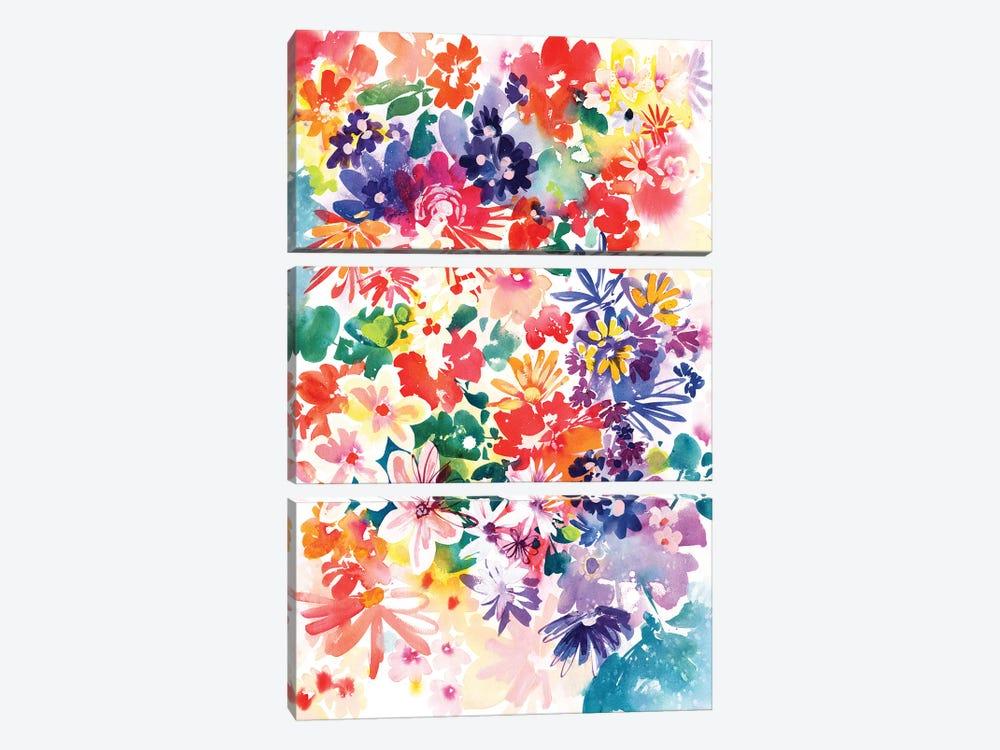 Garden In Bloom by CreativeIngrid 3-piece Canvas Artwork