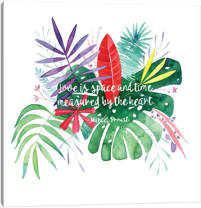 Love Quote by CreativeIngrid Canvas Art Print