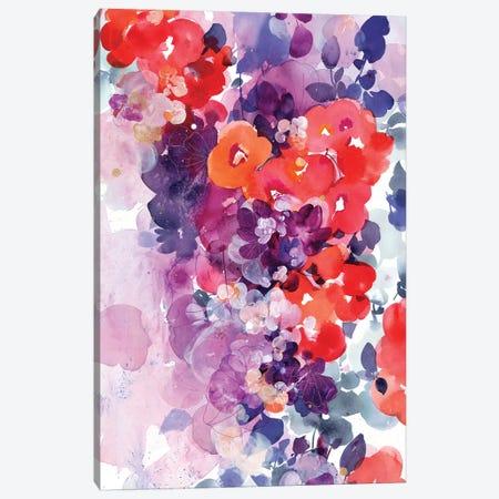 Orange Bloom 3-Piece Canvas #CIG32} by CreativeIngrid Canvas Print
