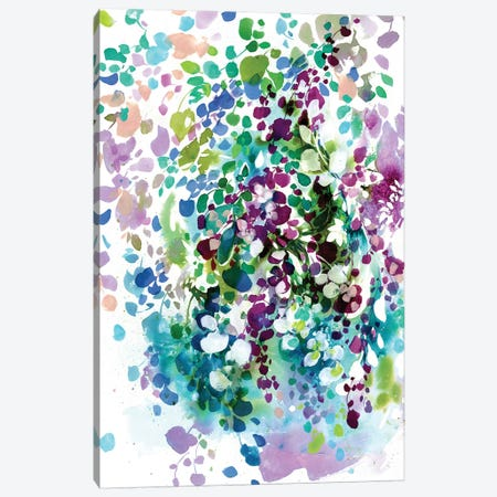 Petals And Leaves Canvas Print #CIG33} by CreativeIngrid Canvas Print