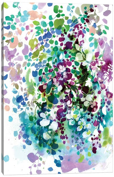 Petals And Leaves Canvas Art Print