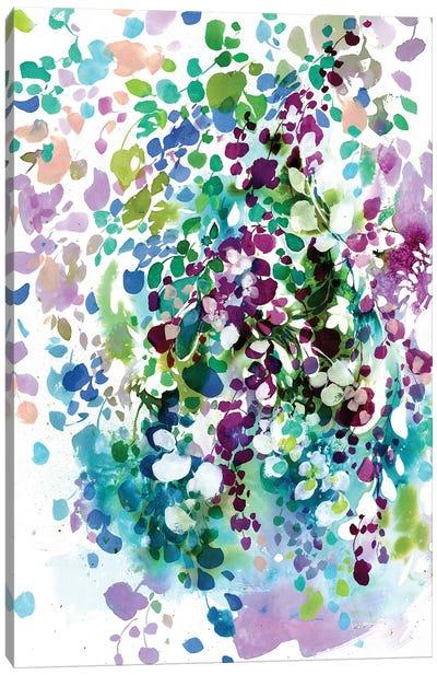 Petals And Leaves Canvas Art Print
