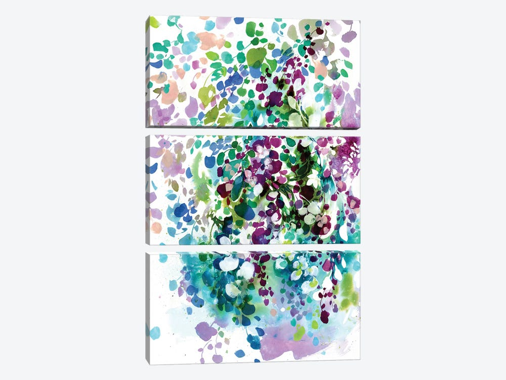 Petals And Leaves by CreativeIngrid 3-piece Art Print