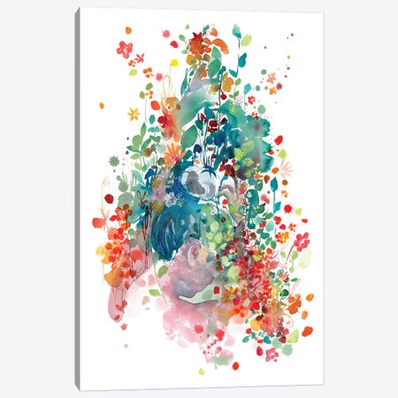 Plant Lady Canvas Print #CIG34} by CreativeIngrid Canvas Wall Art