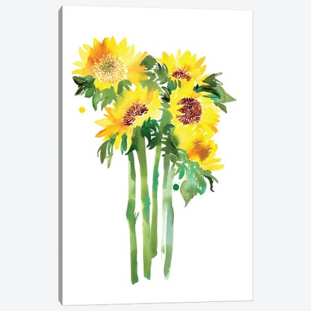 Sunflowers Canvas Print #CIG38} by CreativeIngrid Canvas Art Print