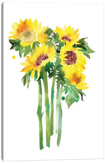 Sunflowers by CreativeIngrid Canvas Art Print
