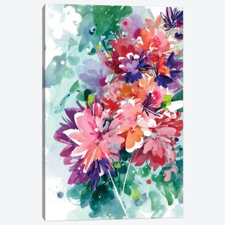 Super Bloom Canvas Print #CIG39} by CreativeIngrid Art Print
