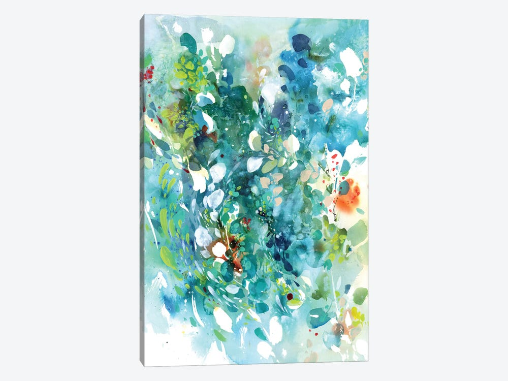 Turquoise Dance by CreativeIngrid 1-piece Canvas Art Print