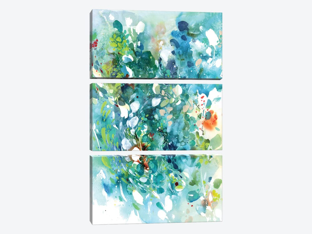 Turquoise Dance by CreativeIngrid 3-piece Canvas Print