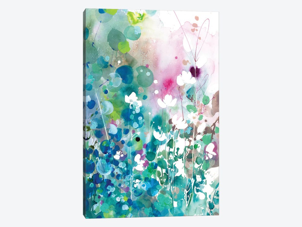 Turquoise Wave by CreativeIngrid 1-piece Canvas Art