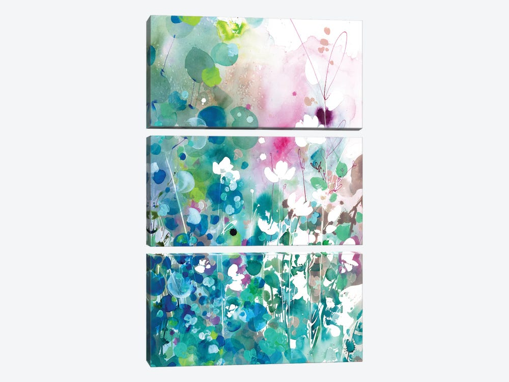 Turquoise Wave by CreativeIngrid 3-piece Canvas Art