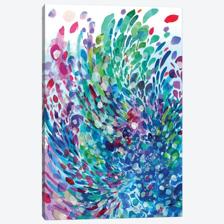 Wave Canvas Print #CIG45} by CreativeIngrid Art Print