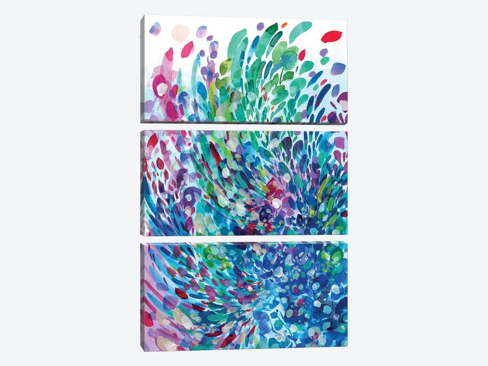 Wave by CreativeIngrid 3-piece Canvas Art