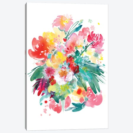Wild Bouquet Canvas Print #CIG47} by CreativeIngrid Art Print