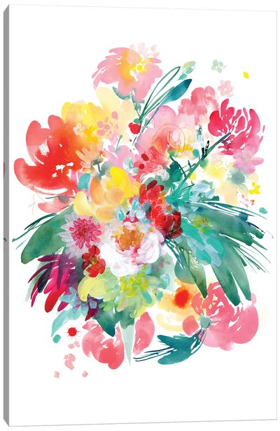 Wild Bouquet by CreativeIngrid Canvas Art Print