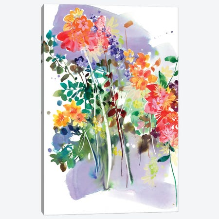 Wildflower Canvas Print #CIG48} by CreativeIngrid Canvas Art