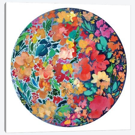 Floral Eclipse Canvas Print #CIG55} by CreativeIngrid Canvas Wall Art