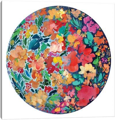 Floral Eclipse Canvas Art Print