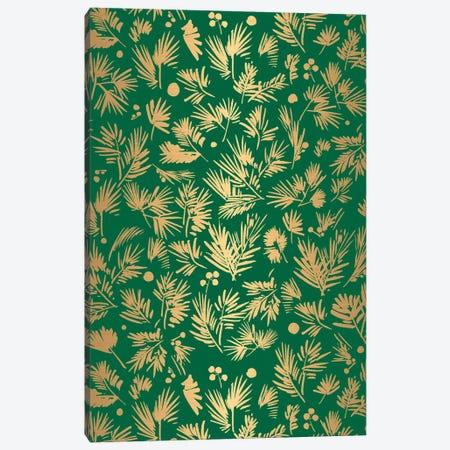 Gold Pattern Card Canvas Print #CIG58} by CreativeIngrid Art Print
