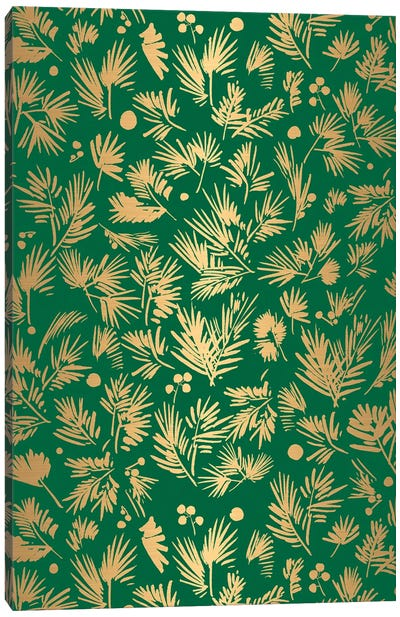 Gold Pattern Card Canvas Art Print