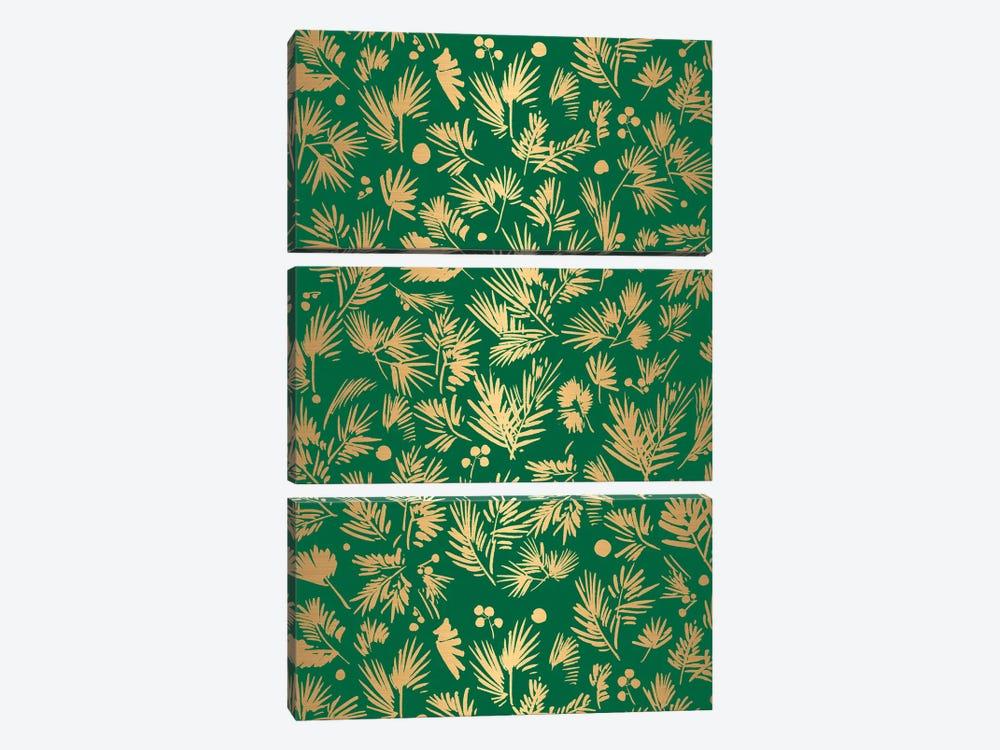 Gold Pattern Card by CreativeIngrid 3-piece Canvas Art