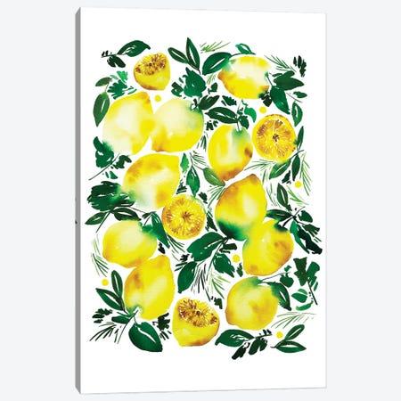 Lemons Canvas Print #CIG64} by CreativeIngrid Art Print
