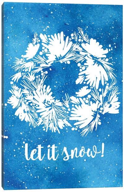 Let It Snow Card Canvas Art Print
