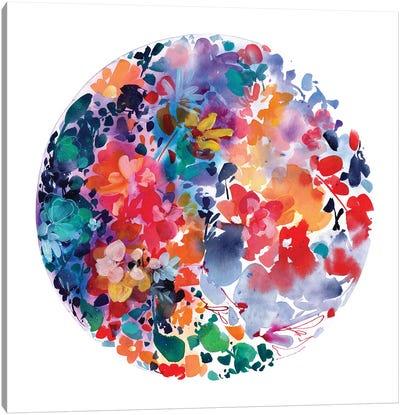 Moon Flourish Canvas Art Print