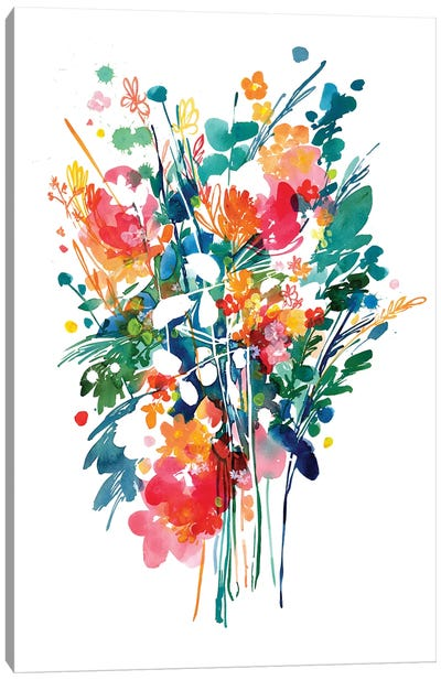 Big Bouquet by CreativeIngrid Canvas Art Print