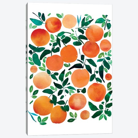 Oranges Canvas Print #CIG70} by CreativeIngrid Art Print