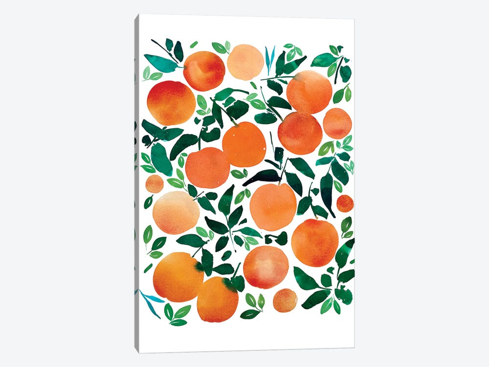 Oranges by CreativeIngrid 1-piece Canvas Art