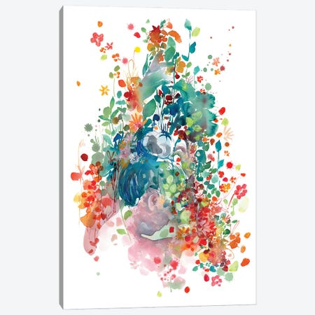 Plant Lady Canvas Print #CIG71} by CreativeIngrid Canvas Art Print