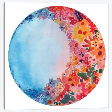Sweet Moon Canvas Print #CIG74} by CreativeIngrid Canvas Wall Art