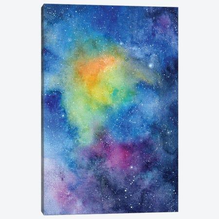 Colourful Galaxy Canvas Print #CIG78} by CreativeIngrid Canvas Art Print