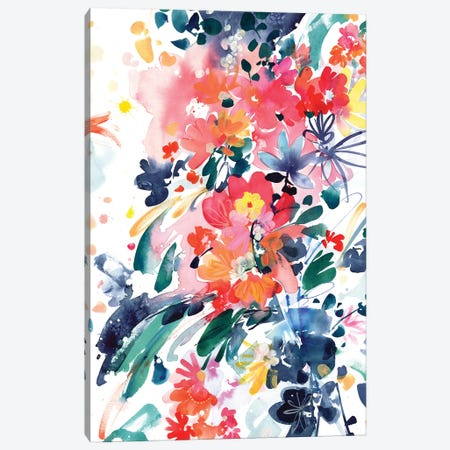 Blooming Wild Canvas Print #CIG7} by CreativeIngrid Canvas Art