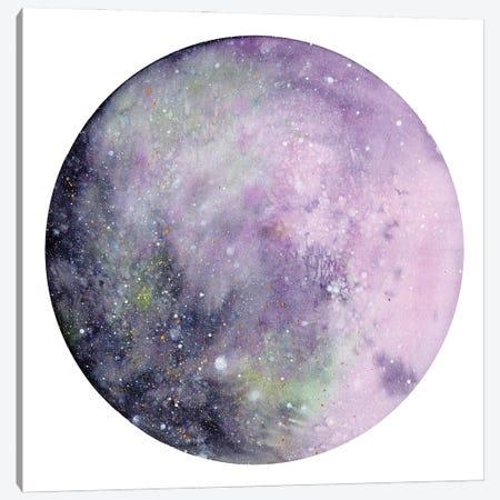 Silver Pink Moon Canvas Print #CIG86} by CreativeIngrid Canvas Print