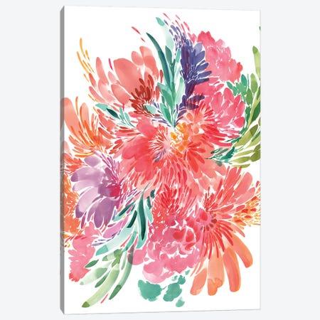 Bold Bouquet Canvas Print #CIG8} by CreativeIngrid Canvas Print