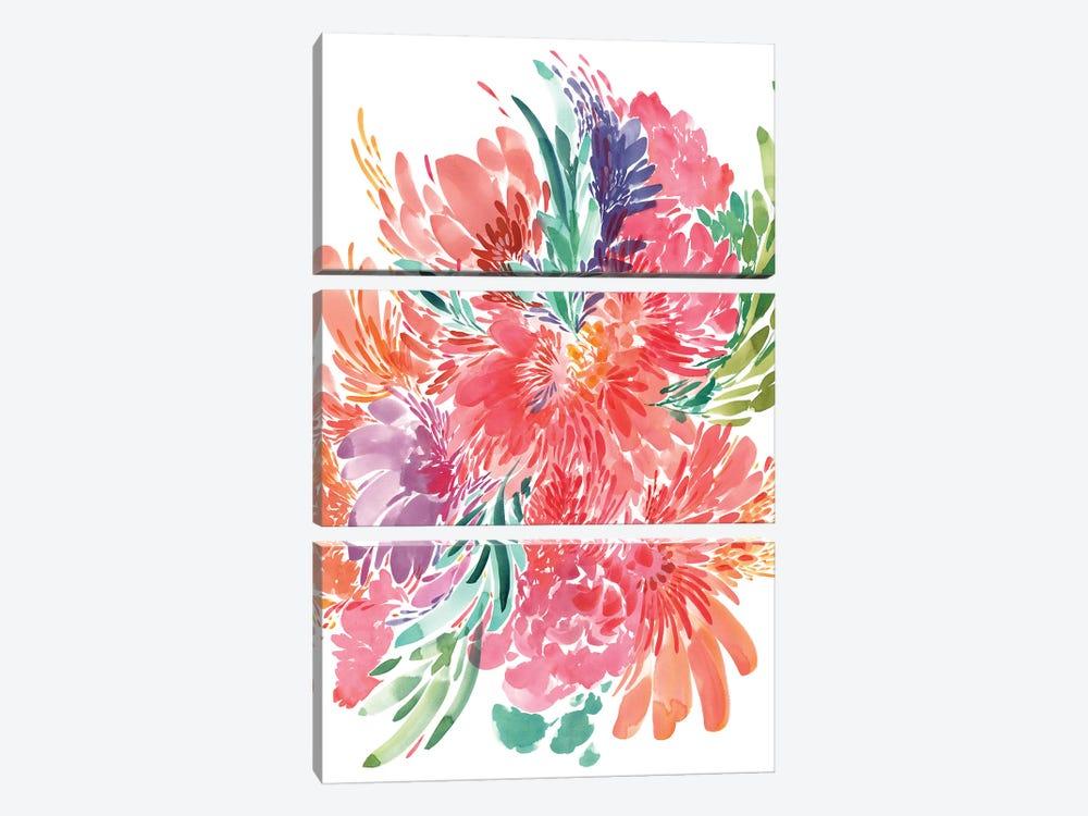 Bold Bouquet by CreativeIngrid 3-piece Canvas Artwork