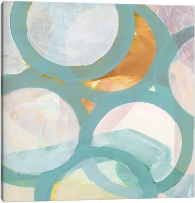 Aqua Circles I Canvas Art Print