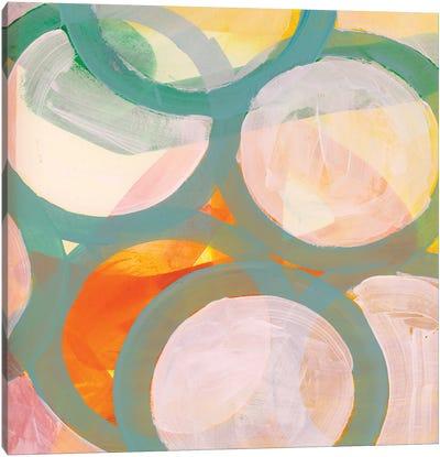 Aqua Circles II Canvas Art Print