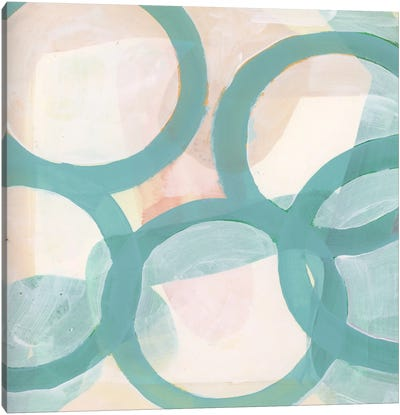 Aqua Circles III Canvas Art Print