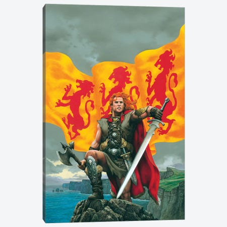Brian Boru Canvas Print #CIL12} by Ciruelo Canvas Wall Art
