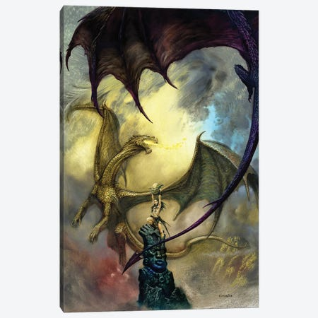 Candle Dragons Canvas Print #CIL14} by Ciruelo Canvas Print
