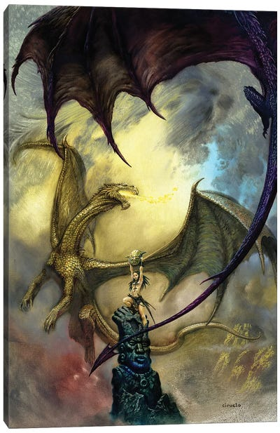 Candle Dragons Canvas Art Print
