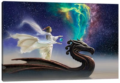 Cosmic Dragon Canvas Art Print