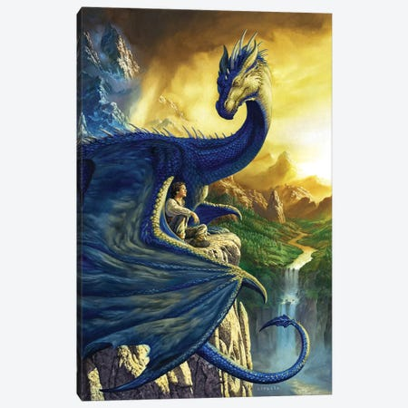 Eragon Canvas Print #CIL39} by Ciruelo Canvas Artwork