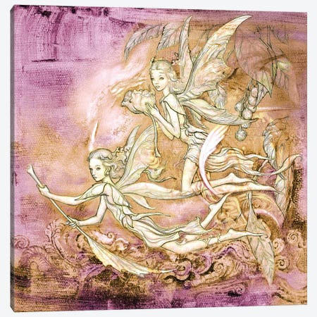 Amanec Fairies Canvas Print #CIL3} by Ciruelo Canvas Art