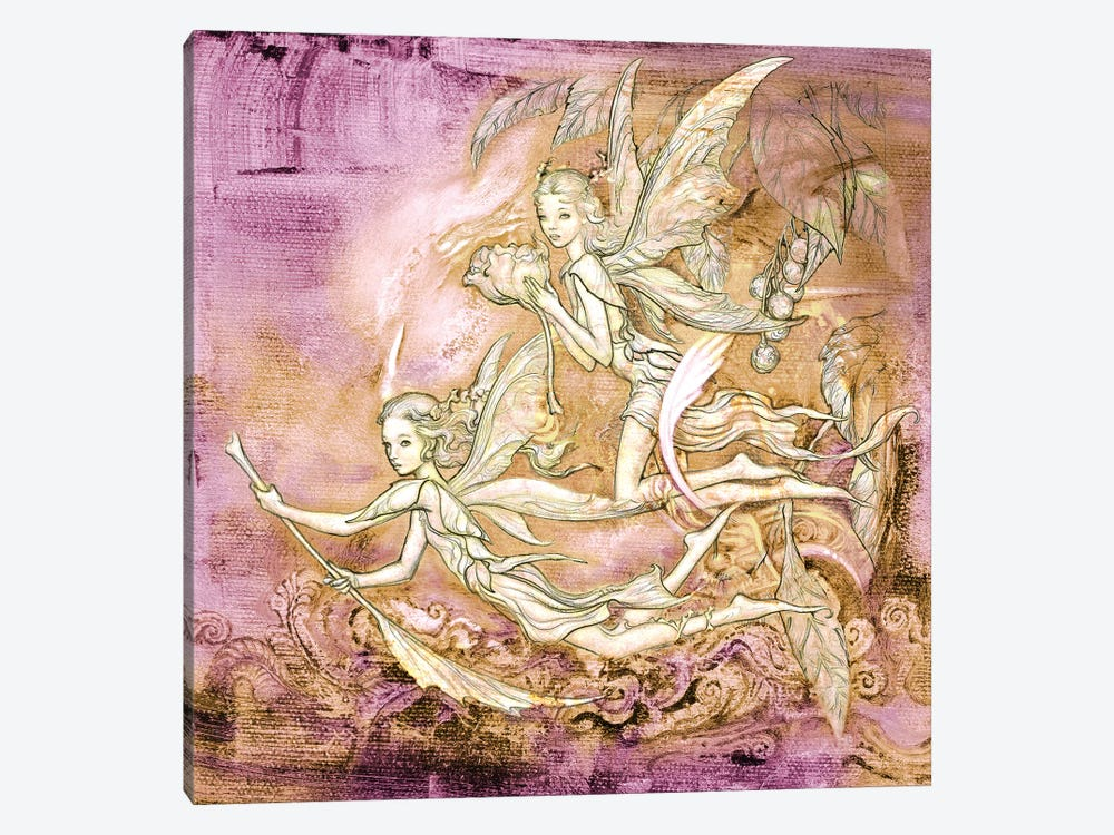 Amanec Fairies by Ciruelo 1-piece Canvas Art